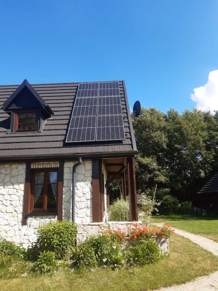 Panele fotowoltaiczne na dachu w Gdańsku